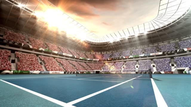 テニス スタジアムの眺め - テニス点の映像素材/bロール