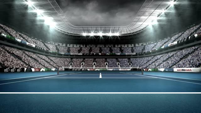 Vista do estádio de tênis - vídeo