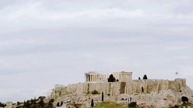 View of the Acropolis in Greece video