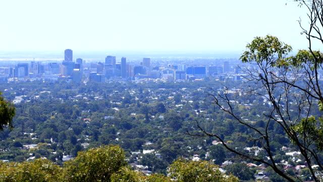 Uitzicht op de Adelaide, Australië centrum video