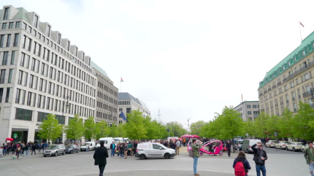 View of the beautiful city of Berlin in a morning video