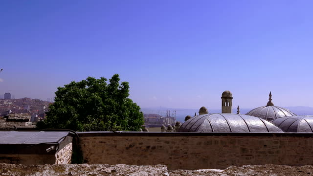 View of the Bosphorus from the Suleymaniye Mosque, Istanbul, Turkey - video