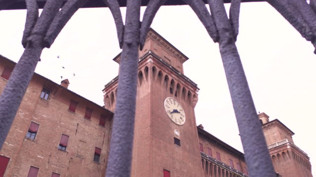 View of the Castle of Ferrara filtered by the ancient gate 2