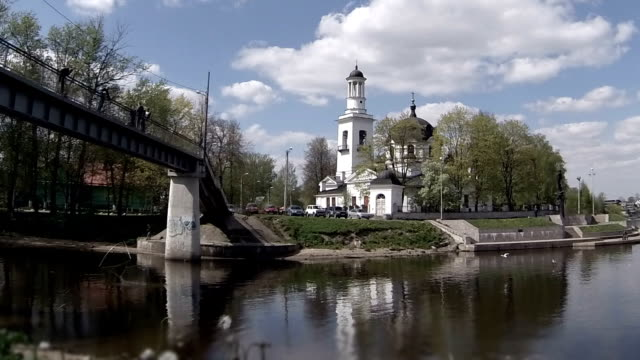 view of the Church of Sts. Alexander Nevsky  time lapse video