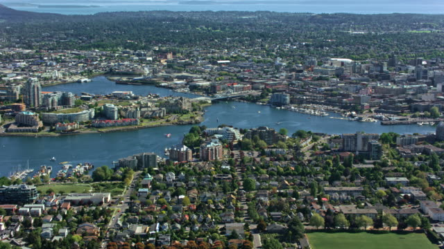 AERIAL View of the city of Victoria video