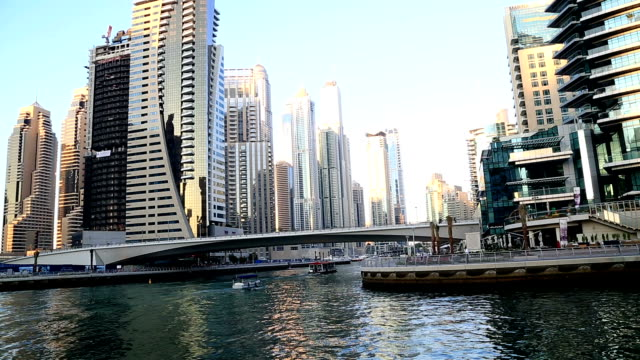 A view of the Dubai Marina video