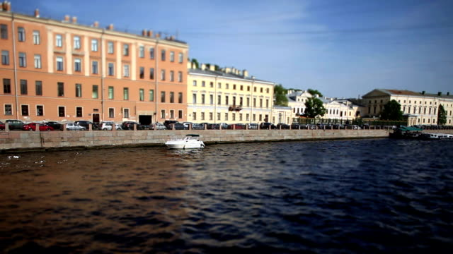 view of the Fontanka River in St. Petersburg video