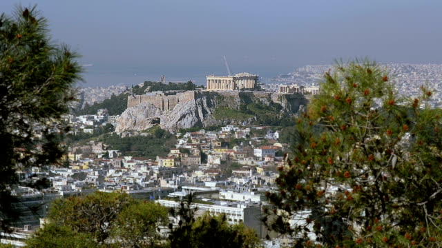 View of the Greek Acropolis video