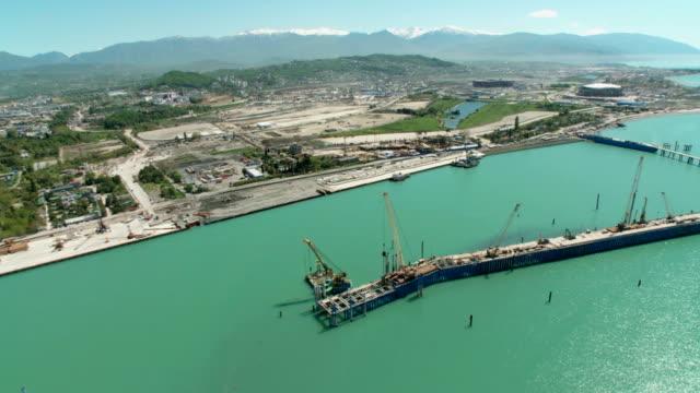 Aerials. Russia - Sochi 2012: View of the harbor video