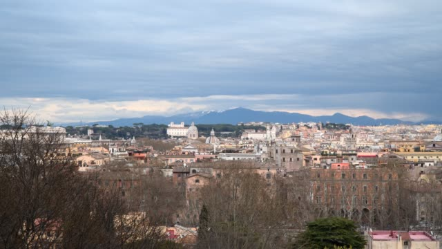 View of the historical center of Rome from the height of the Janiculum Hill View of the historical center of Rome from the height of the Janiculum Hill. Rome Italy us coin stock videos & royalty-free footage