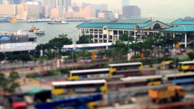 View of the Hong Kong's Bay video