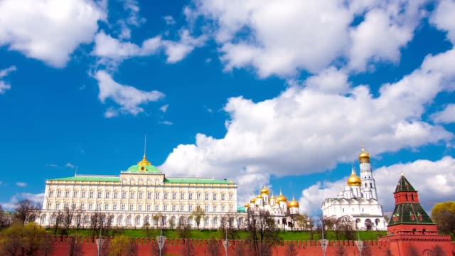 View of the Kremlin in Moscow video
