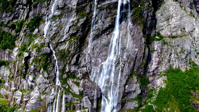 View of the magnificent waterfall of Vinnufossen. video