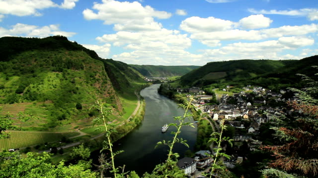 View of the Mosel. Timelaps. video