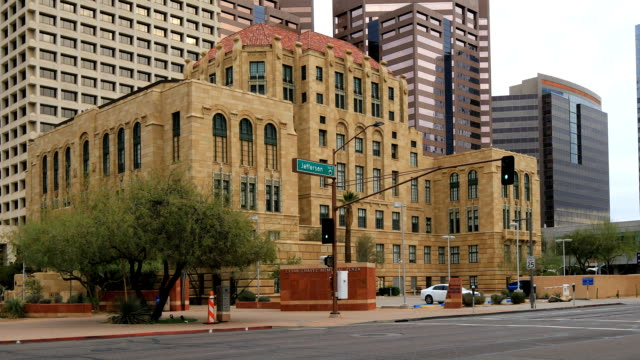 View of the old City Hall in Phoenix, Arizona video