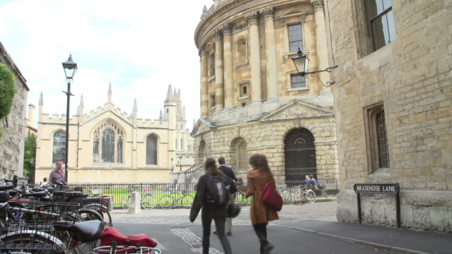 View Of The Oxford Radcliffe Camera From Brazenose Lane video