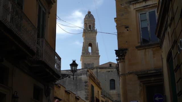 view of the palazzo palmieri - lecce video stock e b–roll