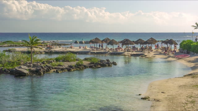 View of the panorama of Puerto Aventuras beach