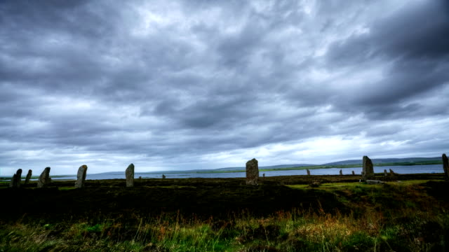 View of the Ring of Brodgar in Scotland