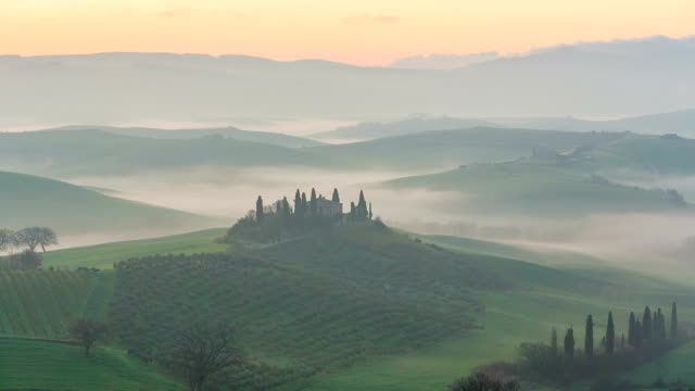 View of the rolling hills of Tuscany video