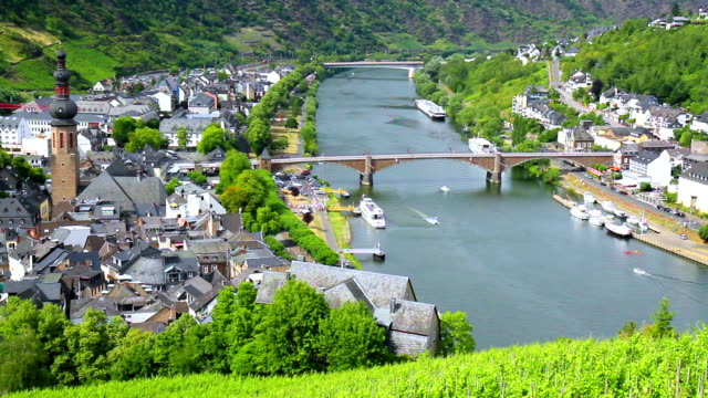 View of the small German town Cochem. video