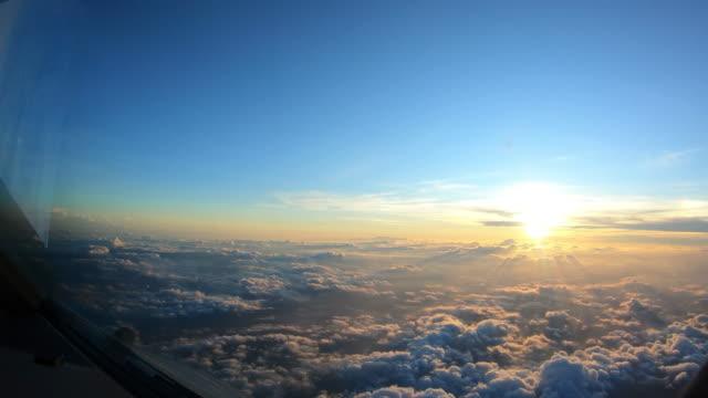 Vista do sol do plano - vídeo
