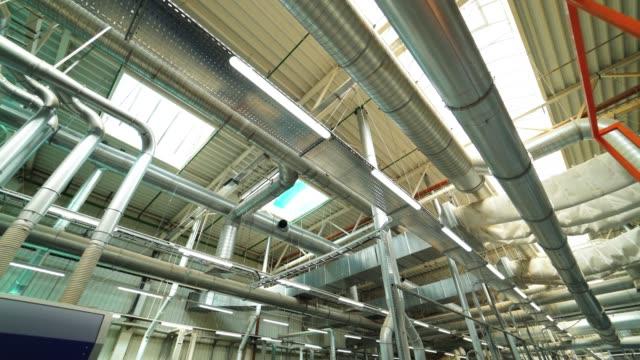 parke fabrikası'nın havalandırma sisteminin görünümü. - pervane stok videoları ve detay görüntü çekimi