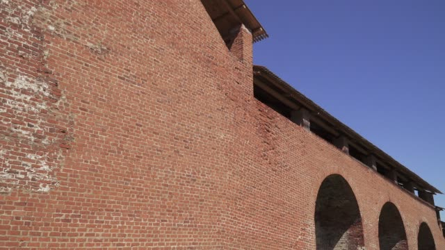 View of the wall of the Novgorod Kremlin