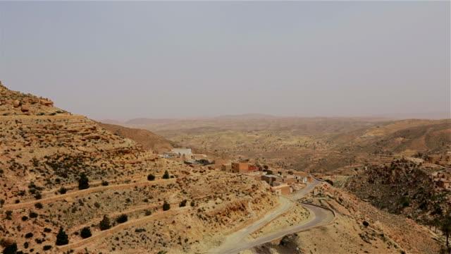 View of Toujane a Berber mountain village , Tunisia