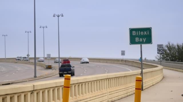 View of Traffic on Biloxi Bay Bridge video