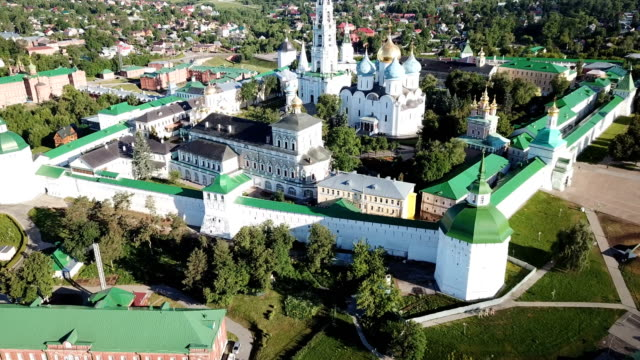 view of Trinity Lavra of St. Sergius  in Sergiev Posad