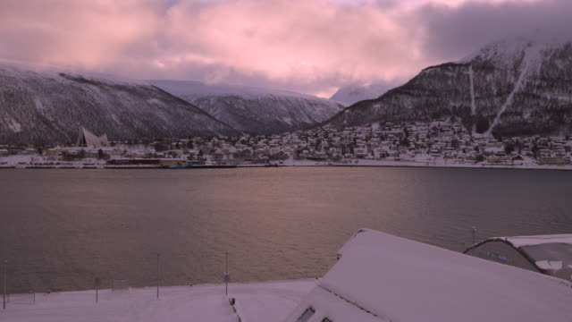 View of Tromso Cityscape video