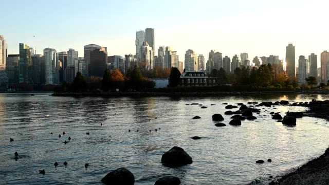 View of Vancouver's downtown waterfront from Stanley Park