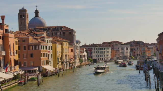 view of Venice from bridge, 4k video