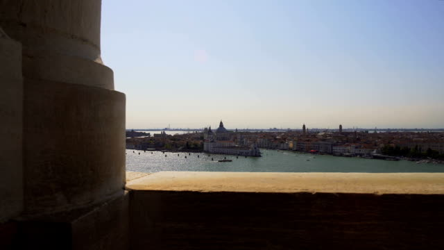 View of Venice island from building, vacation and tourism, sightseeing tour video