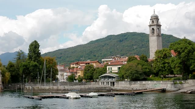 vídeos de stock e filmes b-roll de view of verbania - lago maggiore