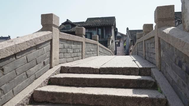 View of Wuzhen Water Town,Zhejiang,China.