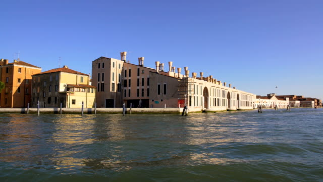 View on beautiful buildings and Grand canal from water taxi, transport, Venice video