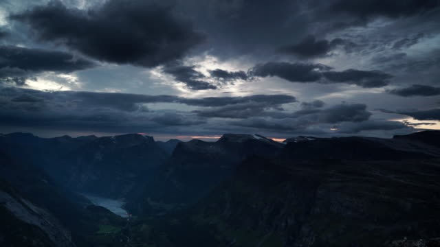 View on Geirangerfjord from Dalsnibba viewpoint, Norway