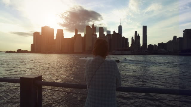 Blick auf Manhattan von Dumbo District, New York city – Video