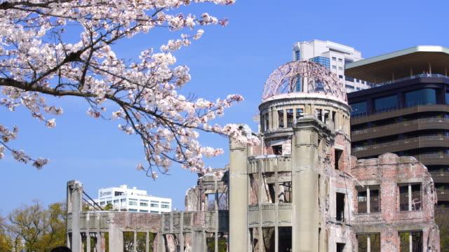 hiroşima japonya atom bombası kubbede görüntüleyin - hiroshima stok videoları ve detay görüntü çekimi