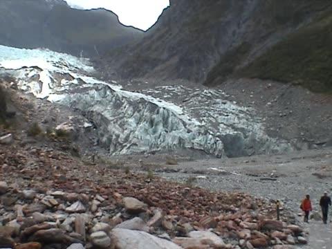 View on the Franz Josef Glacier video