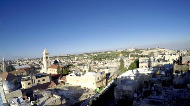 View on the landmarks of Jerusalem Old City video
