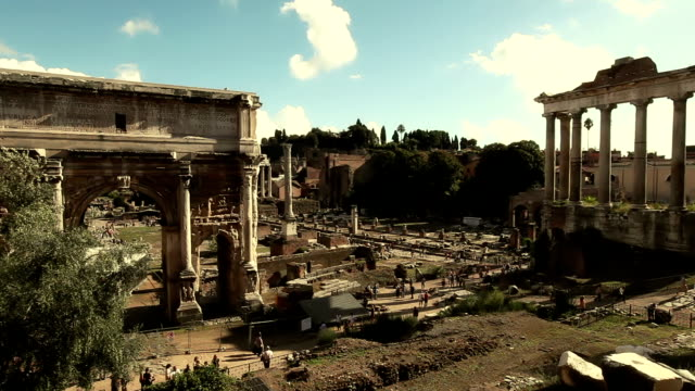 View on the Ruins of Roman Forum video