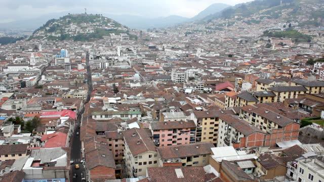 View over the city of Quito, Ecuador video