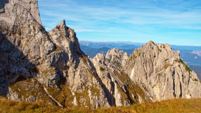 ws view over the julian alps - bergsrygg bildbanksvideor och videomaterial från bakom kulisserna