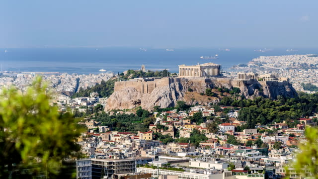 View, the Parthenon, time lapse video