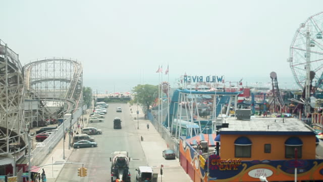 Viewing Coney Island from a Subway Train