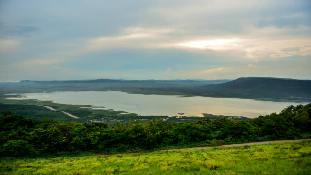Viewpoint at upper reservoir Lam Ta Khong Time Lapse video