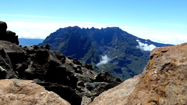 views from grand benare - reunion island - reunion stock videos and b-roll footage